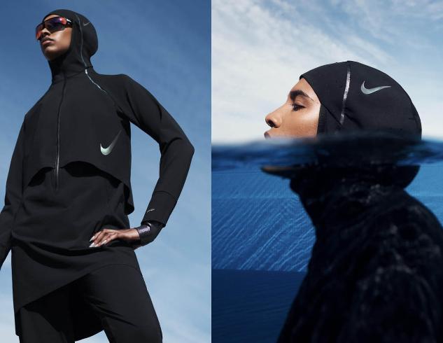 Для мусульманок: Nike выпускает коллекцию купальников-хиджабов, полностью покрывающих тело