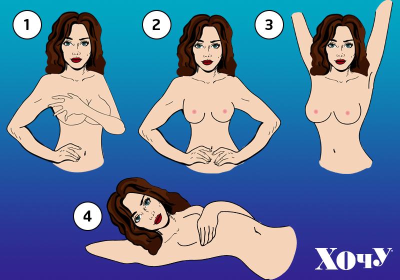 обследовать грудь