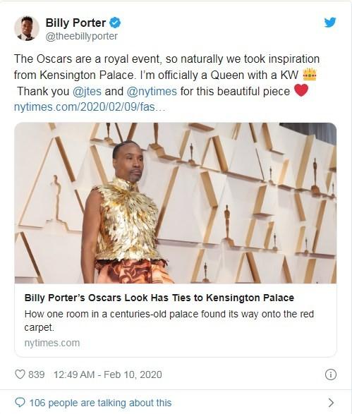 """Снова в платье: эпатажный выход Билли Портера на церемонии """"Оскар-2020"""" - фото №2"""